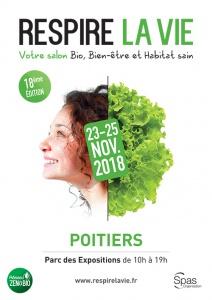 Affiche salon RESPIRE LA VIE Poitiers