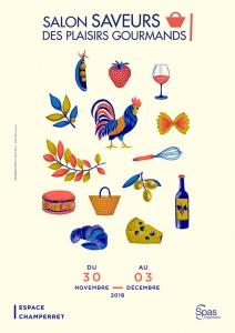 Affichage salon SAVEURS des plaisirs gourmands 2018