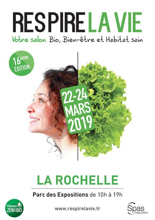 Affiche salon respire la vie La Rochelle 2019